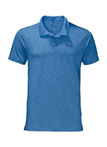 Jack Wolfskin Travel Polo Men Erkek T-Shirt - 1804542-1255 Mavi